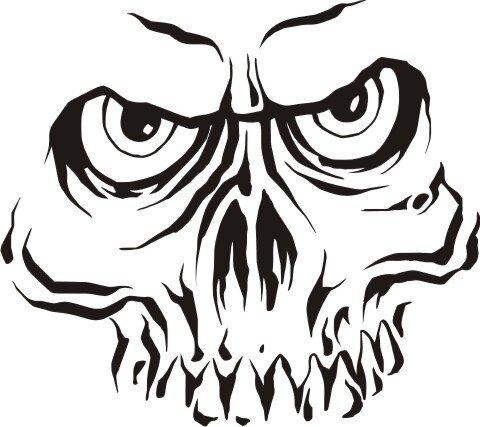 Totenkopf Wandtattoo Skull Walltattoo Mo07