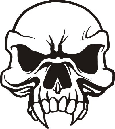 Totenkopf Wandtattoo, Skull Walltattoo MO08