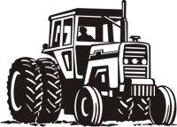 MO01 Trecker Wandtattoo, Traktor Walltattoo Schlepper
