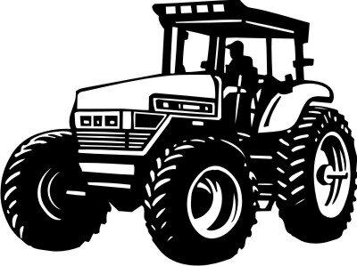 Mo02 Trecker Wandtattoo Traktor Walltattoo Schlepper