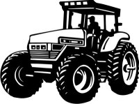 MO02 Trecker Wandtattoo , Traktor Walltattoo Schlepper