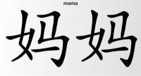 Aufkleber China Zeichen Mama Chinazeichen Sticker