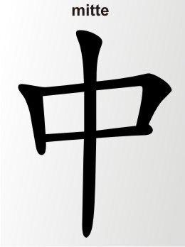 Aufkleber China Zeichen Mitte Chinazeichen Sticker
