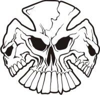 Totenkopf Wandtattoo, Skull Walltattoo MO11
