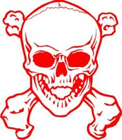 Totenkopf Wandtattoo, Skull Walltattoo MO12