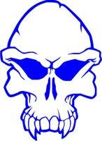 Totenkopf Wandtattoo, Skull Walltattoo MO13