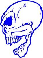 Totenkopf Wandtattoo, Skull Walltattoo MO14