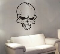 Totenkopf Wandtattoo, Skull Walltattoo MO15