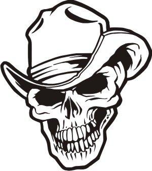 Totenkopf Wandtattoo Skull Walltattoo Mo16