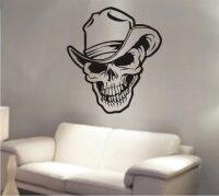 Totenkopf Wandtattoo, Skull Walltattoo MO16