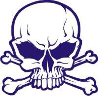 Totenkopf Wandtattoo, Skull Walltattoo MO18