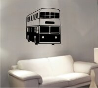 Doppeldeckerbus London Wandtattoo, Walltattoo Double Decker Bus