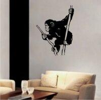 Schimpanse Affe Wandtattoo Tapeten Deko