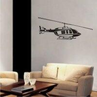 Hubschrauber Wandtattoo, Helicopter Walltattoo,  Wandaufkleber