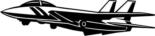 Jet Fighter Wandtattoo, Flugzeug Walltattoo MO01