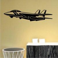Jet Fighter Wandtattoo, Flugzeug Walltattoo MO01