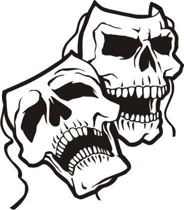 Totenkopf Wandtattoo Skull Walltattoo Mo21