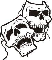 Totenkopf Wandtattoo, Skull Walltattoo MO21