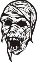 Totenkopf Wandtattoo, Skull Walltattoo MO22