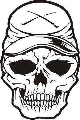 Totenkopf Wandtattoo, Skull Walltattoo MO23