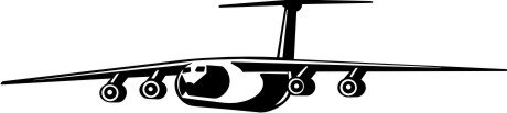 Jet Transporter Wandtattoo, Flugzeug Walltattoo, Wandaufkleber