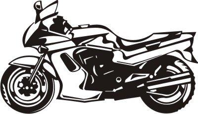 Motorrad Wandtattoo, Motorcycle Wandaufkleber MO02