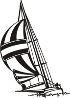 MO01 Segelboot Wandtattoo, Schiff Walltattoo Sailboat als...