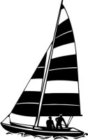 MO02 Segelboot Wandtattoo, Schiff Walltattoo Sailboat als...