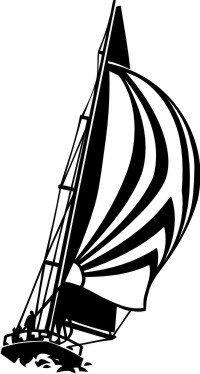 MO03 Segelboot Wandtattoo, Schiff Walltattoo Sailboat als Wandaufkleber