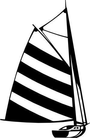 MO04 Segelboot Wandtattoo, Schiff Walltattoo Sailboat als Wandaufkleber