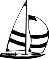 MO06 Segelboot Wandtattoo, Schiff Walltattoo Sailboat als...