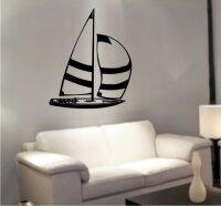 MO06 Segelboot Wandtattoo, Schiff Walltattoo Sailboat als Wandaufkleber