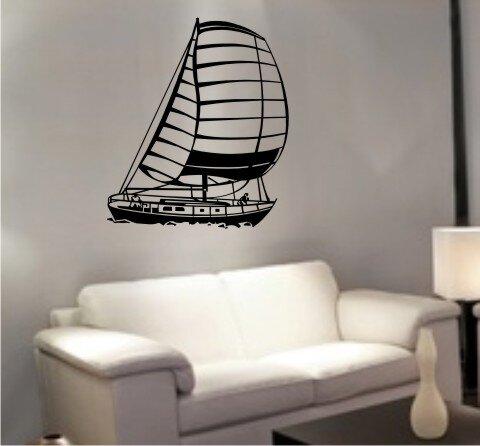 mo07 segelboot wandtattoo schiff walltattoo sailboat als. Black Bedroom Furniture Sets. Home Design Ideas