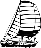 MO07 Segelboot Wandtattoo, Schiff Walltattoo Sailboat als...