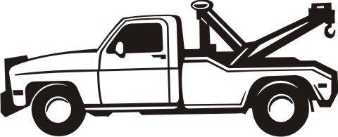 Abschleppfahrzeug Wandtattoo, Truck Walltattoo Pickup Truck