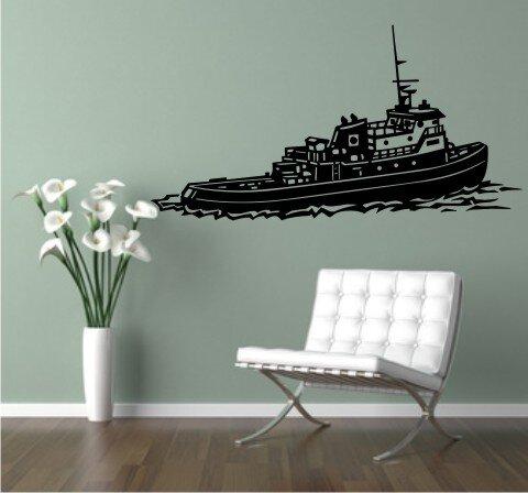 schlepper wandtattoo schiff walltattoo schleppdampfer. Black Bedroom Furniture Sets. Home Design Ideas