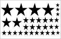 Sterne Wandtattoo, Wandaufkleber Set aus 32...