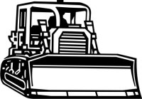 Bulldozer Wandtattoo, Planierraupe Baumaschinen MO02