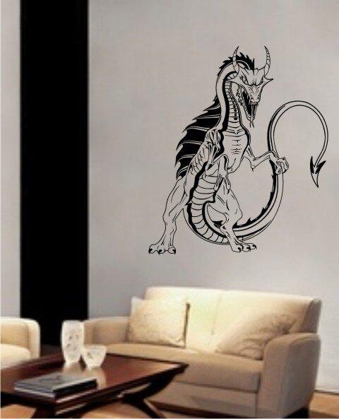 Dragon wandtattoo drache tapeten deko wandaufkleber - Deko wand tapeten ...