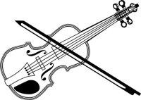 Geige Wandtattoo Rodeo Western Wandaufkleber