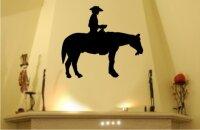 MO01 Pferd und Cowboy Wandtattoo Pferd und Reiter...
