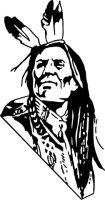 Indianer Krieger Wandtattoo Rodeo Western Wandaufkleber