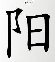 Yang China Zeichen Aufkleber Chinazeichen Sticker