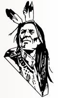 Indianer Krieger Aufkleber, Indian