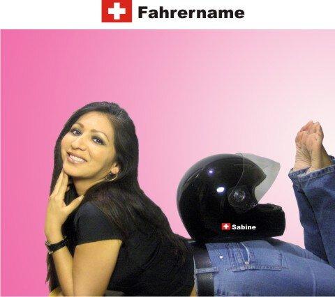 Helm Aufkleber Mit Schweiz Flagge Und Mit Ihrem Namen Selbst Gestalte