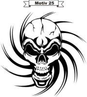 Totenkopf Skull Aufkleber MO25