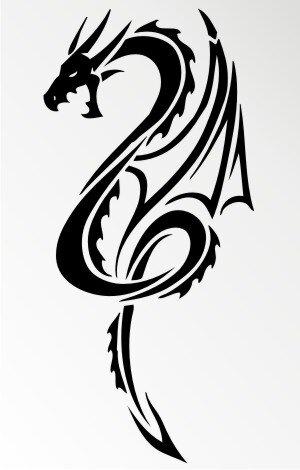 MO54 Drachen Aufkleber Drache Autoaufkleber Dragon Sticker