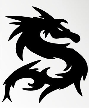 MO58 Drachen Aufkleber Drache Autoaufkleber Dragon Sticker