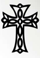 Kreuz Tribal Aufkleber MO03