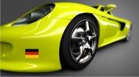 Aufkleber Landesfahne Deutschland Flagge fürs Auto